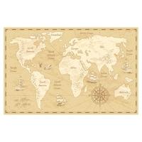 Öntapadó fotótapéta, Ősi térkép, 110x170 cm