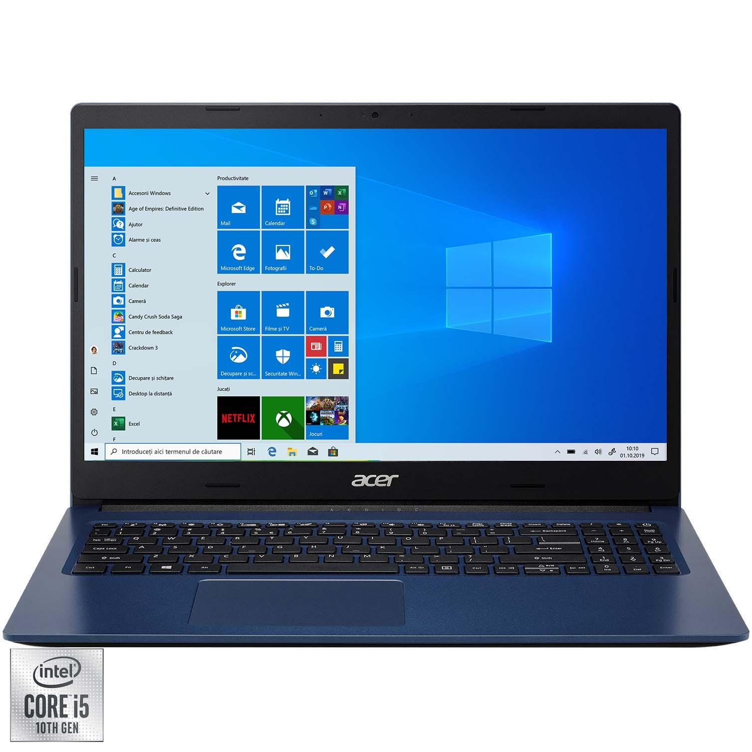 "Fotografie Laptop Acer Aspire 3 A315-57G cu procesor Intel Core i5-1035G1, 15.6"", Full HD, 8GB, 512GB SSD, NVIDIA® GeForce® MX330 2GB, Windows 10 Home, Indigo Blue"