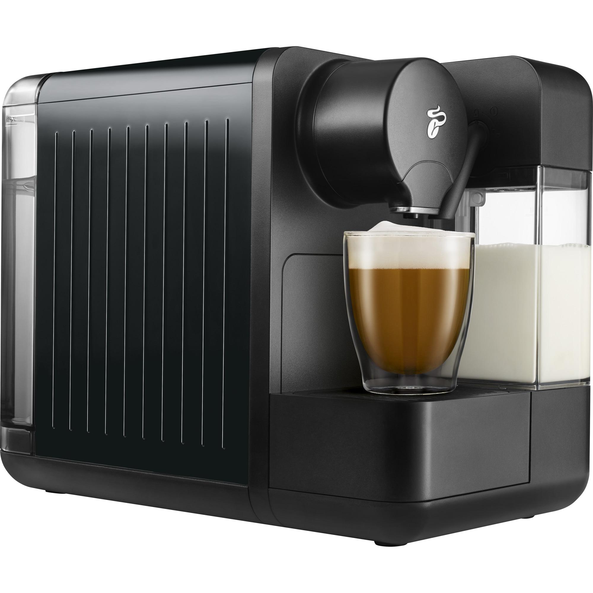 Fotografie Espressor Tchibo Cafissimo milk black, rezervor apa 1.2l, rezervor lapte 400ml, tip bauturi: Espresso Café Crema, Cafea Lunga, Cappuccino, Latte, Negru