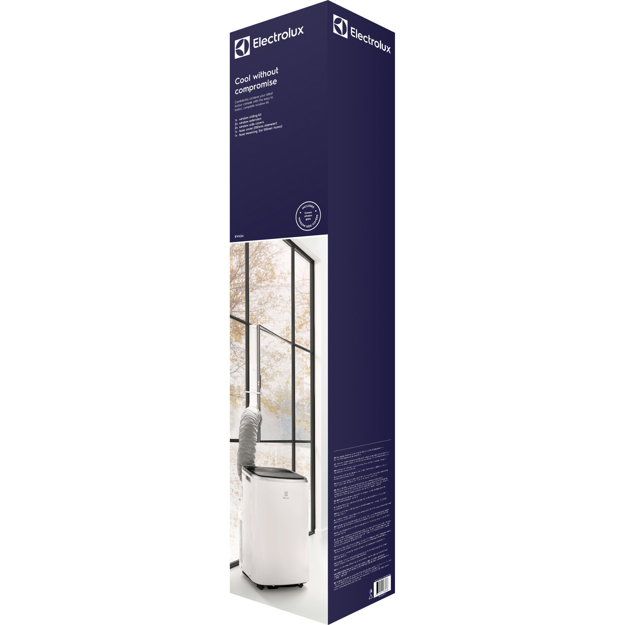 Fotografie Kit fereastra premium EWK04 Electrolux pentru aparate aer conditionat portabil - pentru orice model cu diametru evacuare 150 mm