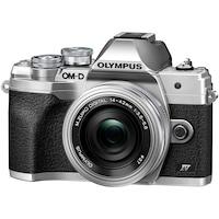 Фотоапарат Мirrorless Olympus E-M10 Mark IV + Обектив M.Zuiko Digital ED 14-42 мм F3.5-5.6 EZ (pancake zoom), Сребрист/Сребрист