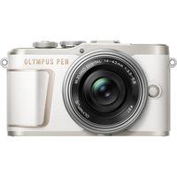 Фотоапарат Мirrorless Olympus E-PL10 + Обектив M.Zuiko Digital ED 14-42 мм F3.5-5.6 EZ (pancake zoom), Micro 4/3, Стабилизация 3 axe, 4K, Wi-Fi&Bluetooth®, Бял/Сребрист