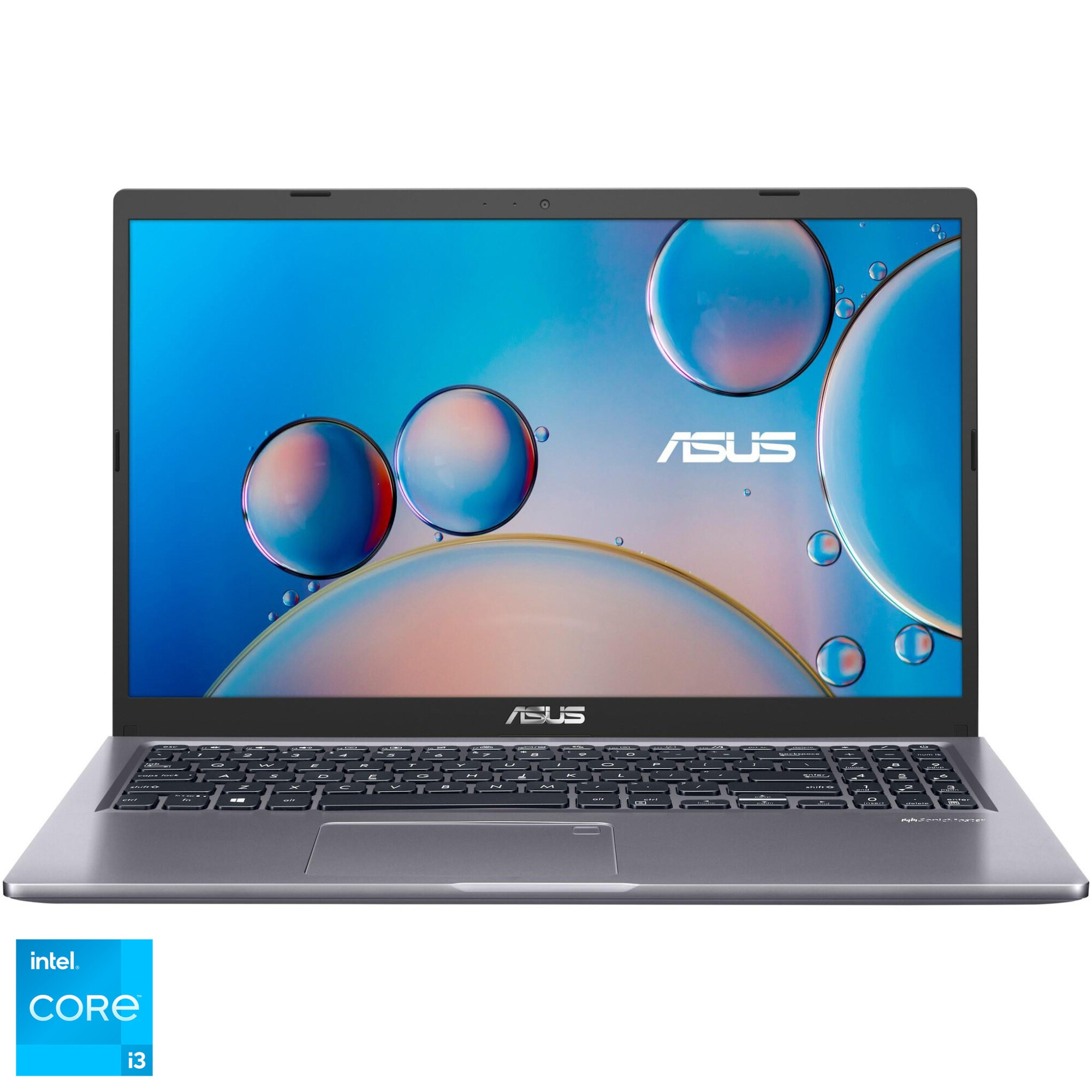 "Fotografie Laptop ASUS X515EA cu procesor Intel® Core™ i3-1115G4 pana la 4.10 GHz, 15.6"", HD, 8GB, 256GB SSD, Intel® UHD Graphics, Free DOS, Slate Grey"