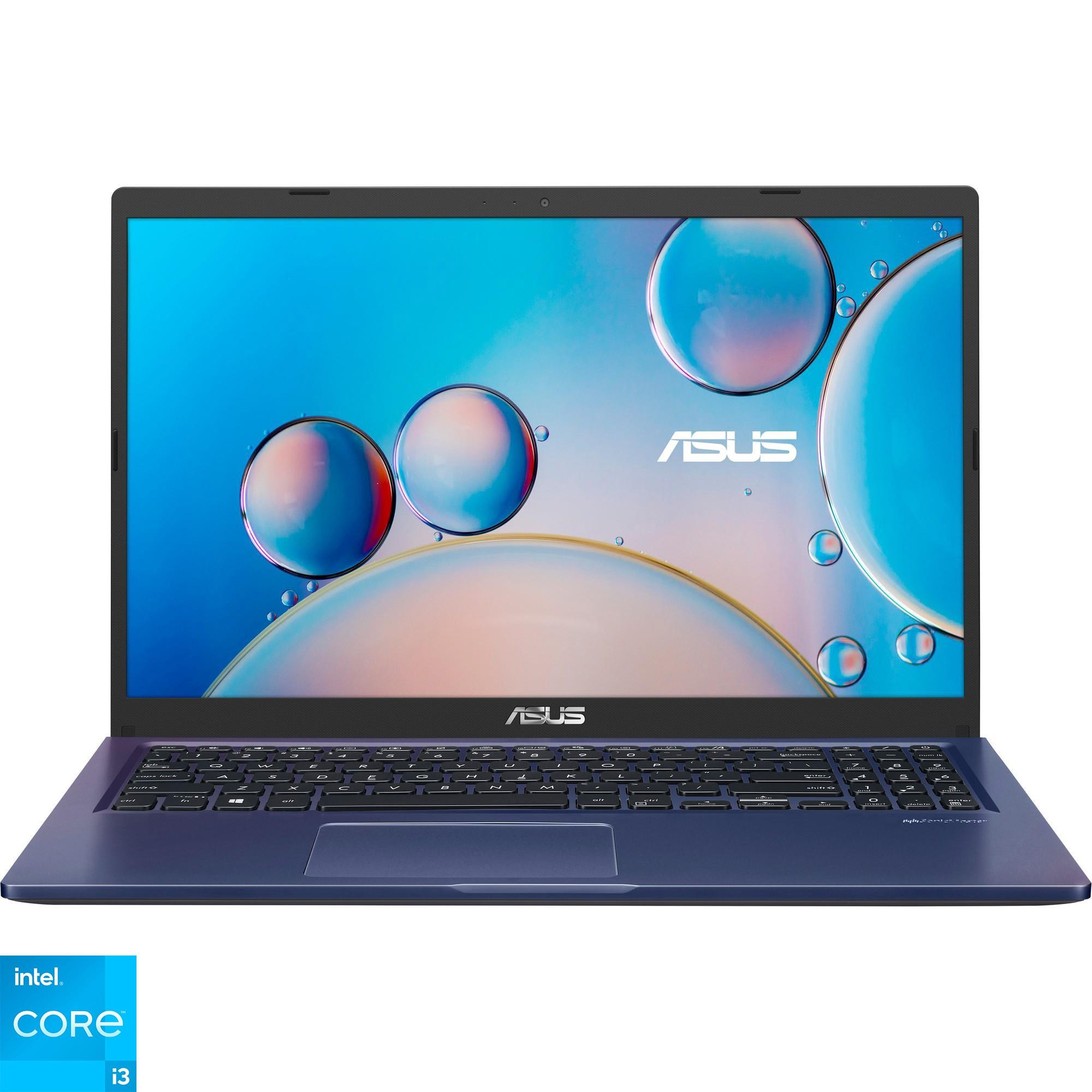 """Fotografie Laptop ASUS X515EA cu procesor Intel® Core™ i3-1115G4, 15.6"""", HD, 8GB, 256GB SSD, Intel® UHD Graphics, No OS, Peacock Blue"""