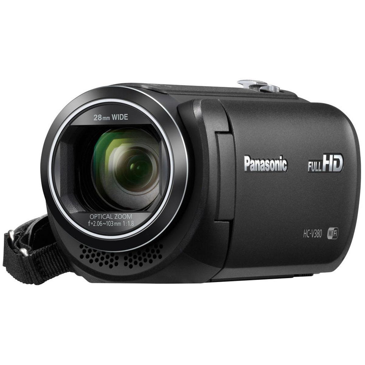 Fotografie Camera video Panasonic HC-V380EP-K, Full HD, Wi-Fi, Negru