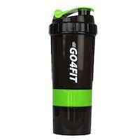 Shaker GO4FIT, din plastic fara BPA, 600 ml pentru prepararea bauturilor proteice, verde