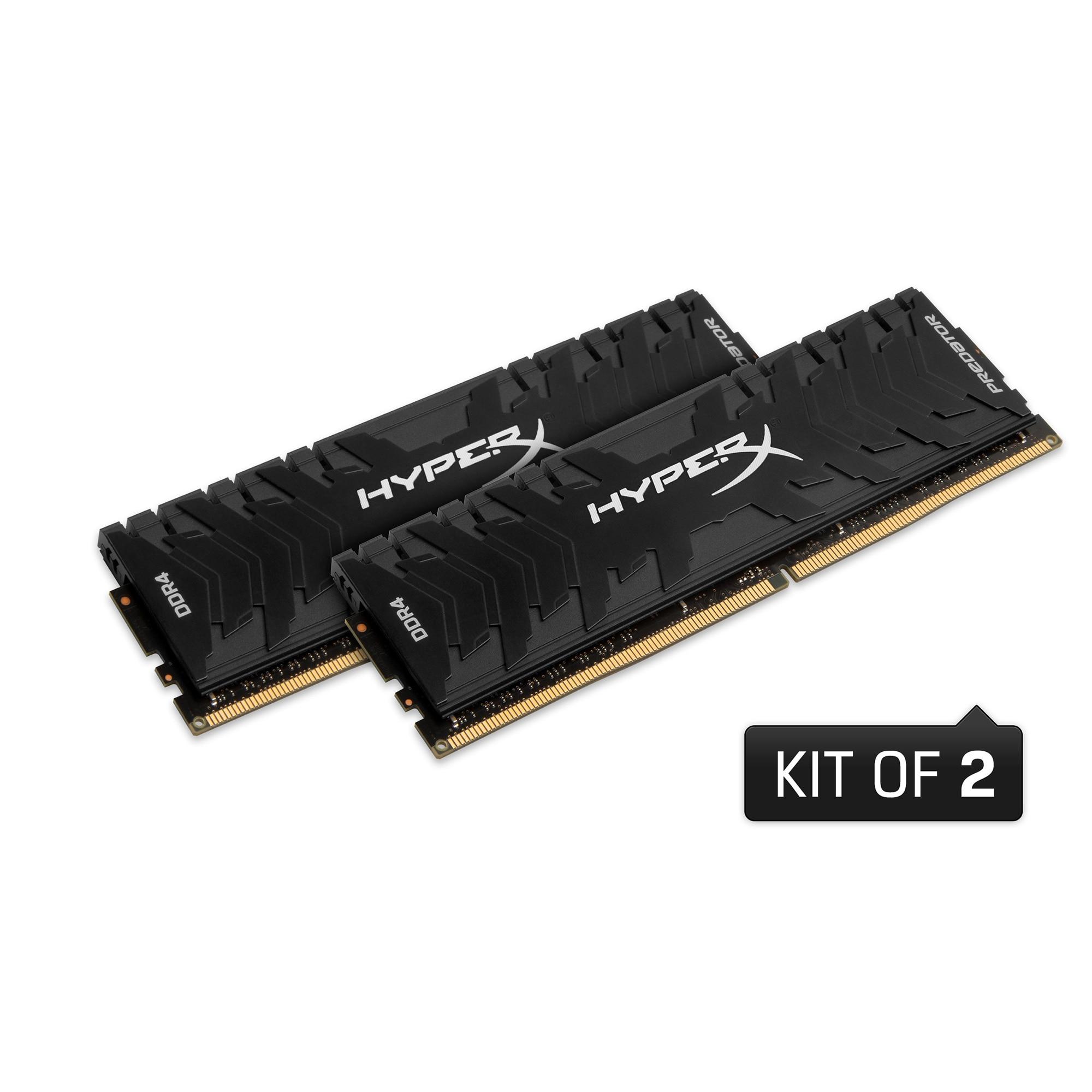 Fotografie Memorie HyperX Predator Black 16GB, DDR4, 3200MHz, CL16, 1.35V, kit 2x8GB