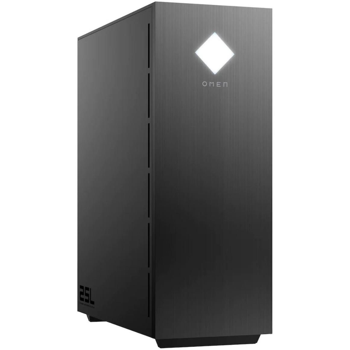Fotografie Sistem Gaming OMEN by HP GT11-1000nq cu procesor AMD Ryzen™ 7 5700G pana la 4.60 GHz, 16GB DDR4, 512GB SSD, NVIDIA GeForce RTX 3060 12GB, Free DOS, Black