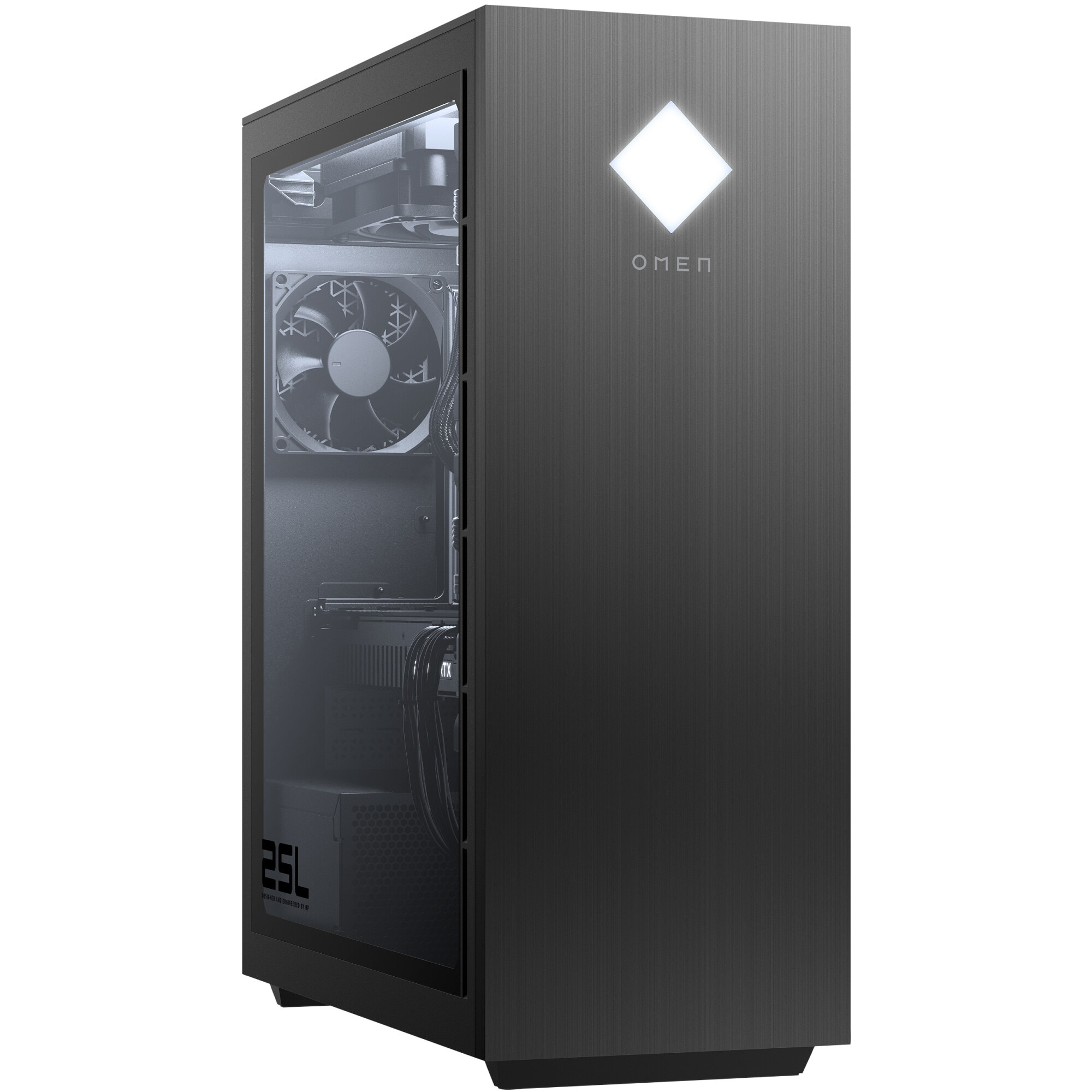Fotografie Sistem Gaming OMEN by HP GT12-1000nq cu procesor AMD Ryzen™ 5 5600G pana la 4.40 GHz, 16GB DDR4, 512GB SSD, NVIDIA GeForce RTX 3060 12GB, Free DOS, Black