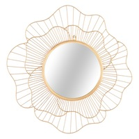 Virág alakú kerek tükör, 60 cm, arany, Diphylleia - Butopea