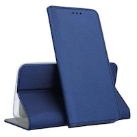 Telefontok Xiaomi Redmi Note 10 Pro / Note 10 Pro Max - kék mágneses szilikon keretes könyvtok
