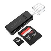 Четец за карти Platinet Card Reader PMCRTCB, за SD и microSD карти, за компютри и лаптопи с USB-C порт, черен