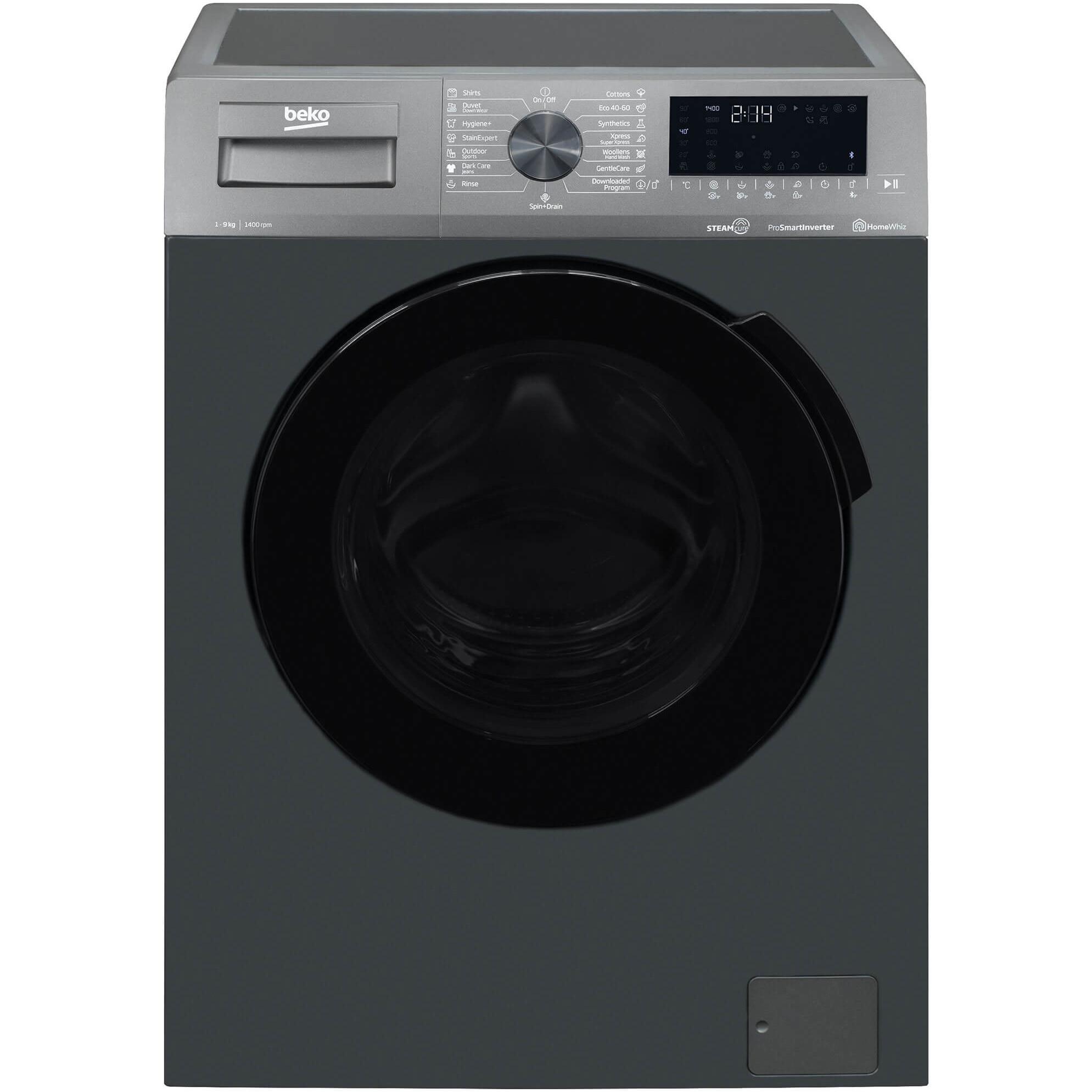 Fotografie Masina de spalat rufe Beko WUV9726XBA, 9 kg, 1400 RPM, Clasa C, Motor ProSmart Inverter, Hygiene+ cu SteamCure, AddXtra, Antracit