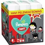 Pampers Pants Az Igazság Ligája szuperhősös havi pelenkacsomag, 4-es méret, 9-15kg, 144 db