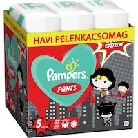 Pampers Pants Az Igazság Ligája szuperhősös havi pelenkacsomag, 5-ös méret, 12-17 kg, 132 db