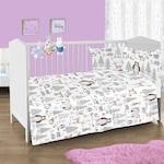Спален комплект за легло 120 x 60 см Mappy Forest, Със страничен протектор, 4 части