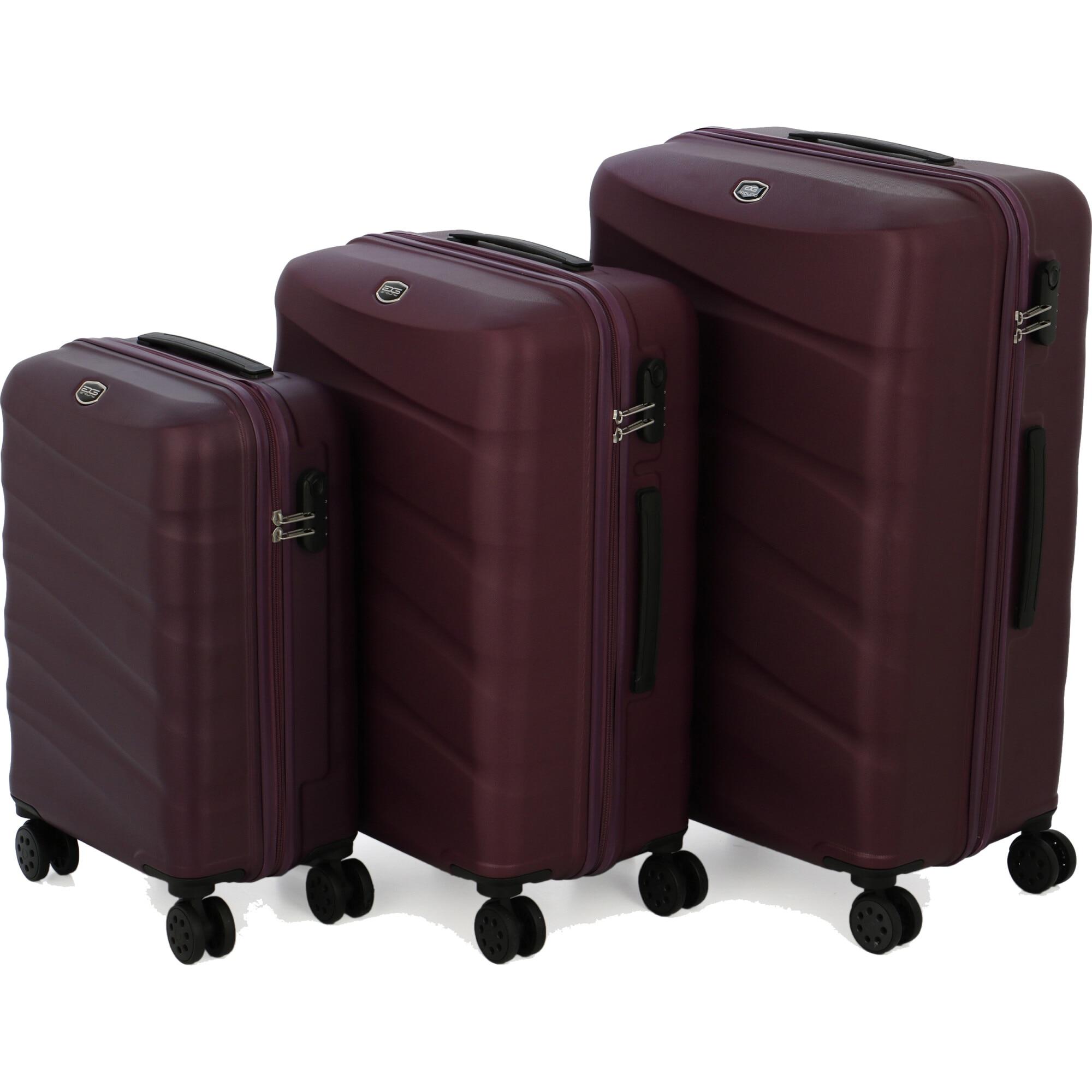 Fotografie Set 3 trolere WIDE, ABS, marime S+M+L, rosu-violet