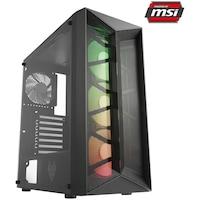 Serioux Powered by MSI Gaming asztali számítógép, AMD Ryzen™ 5 3600 processzorral, akár 4.20GHz, 16GB DDR4, 1TB SSD, Radeon™ RX 6700 XT 12GB GDDR6, No OS