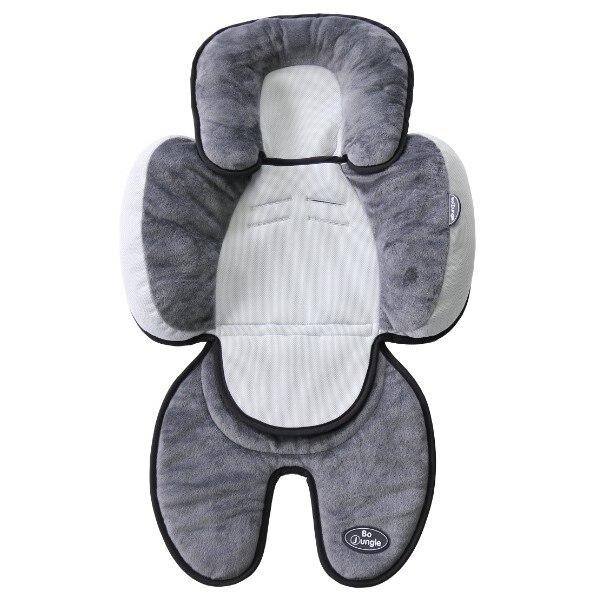 Fotografie Saltea suplimentara bebelusi BO Jungle 3 in 1 pentru carucior, scaun auto, scoica, Gri/Negru