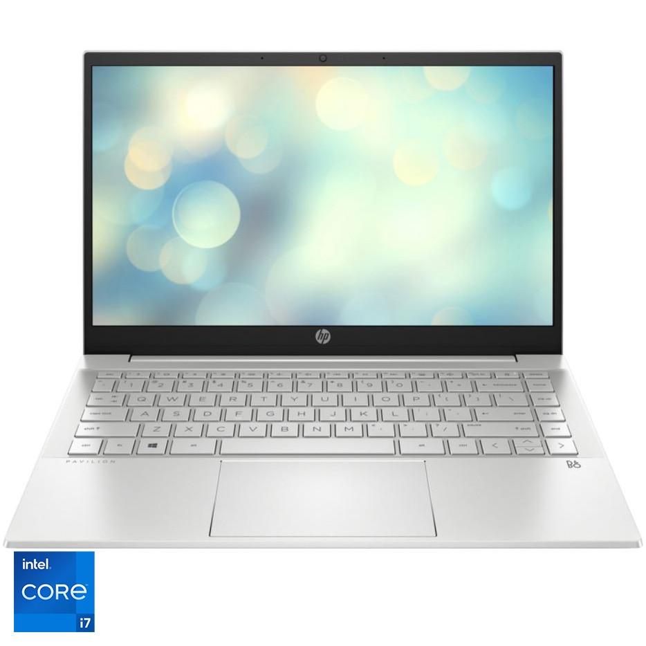"Fotografie Laptop ultraportabil HP Pavilion 14-dv0034nq cu procesor Intel® Core™ i7-1165G7 pana la 4.70 GHz, 14"", Full HD, 8GB, 256GB SSD, Intel® Iris® Xᵉ Graphics, Free DOS, Natural silver"