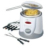 Clatronic FFR 2916 olajsütő/fondue készítő, 1L, 900W, Fehér