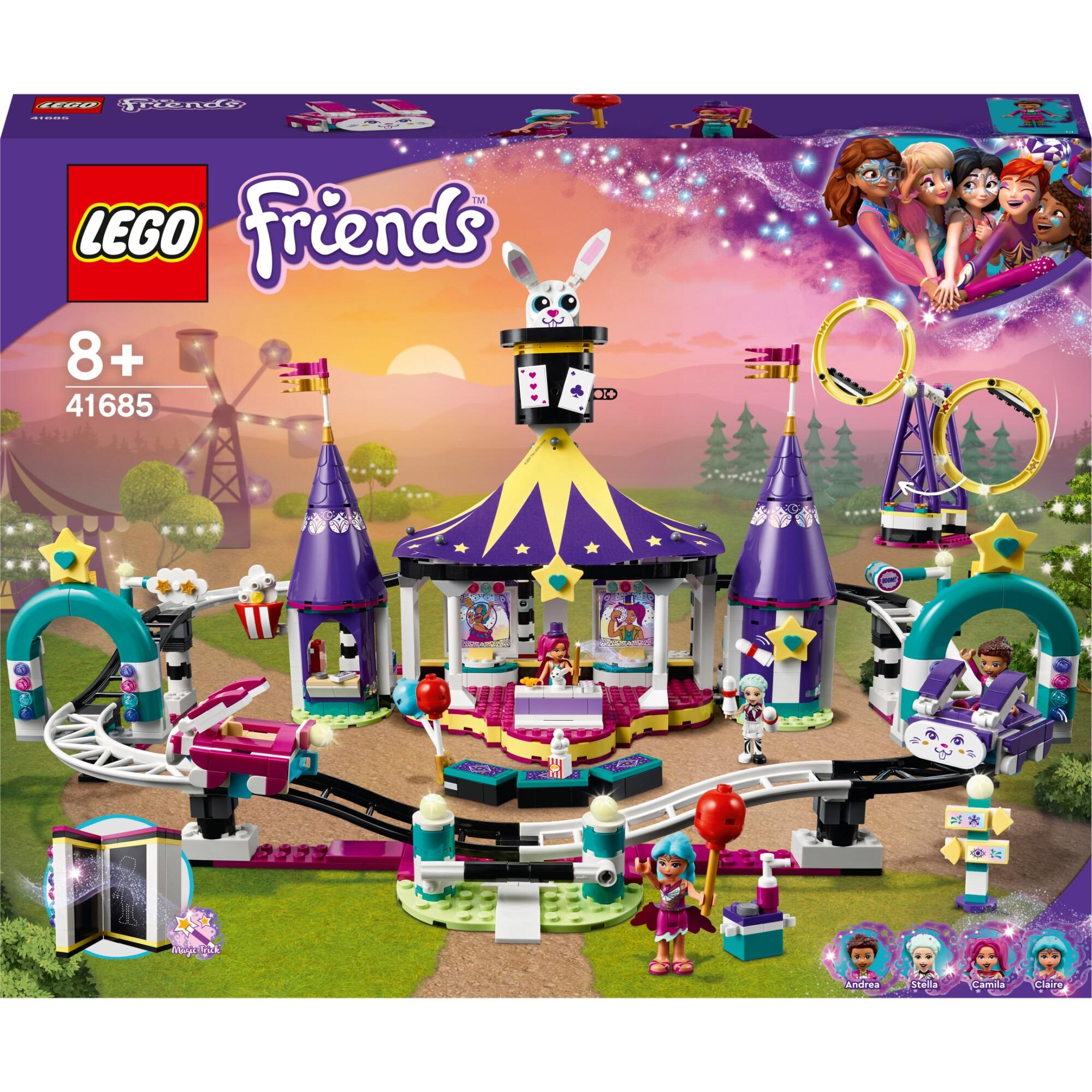 Fotografie LEGO Friends - Montagne russe magic in parcul de distractii 41685, 974 piese