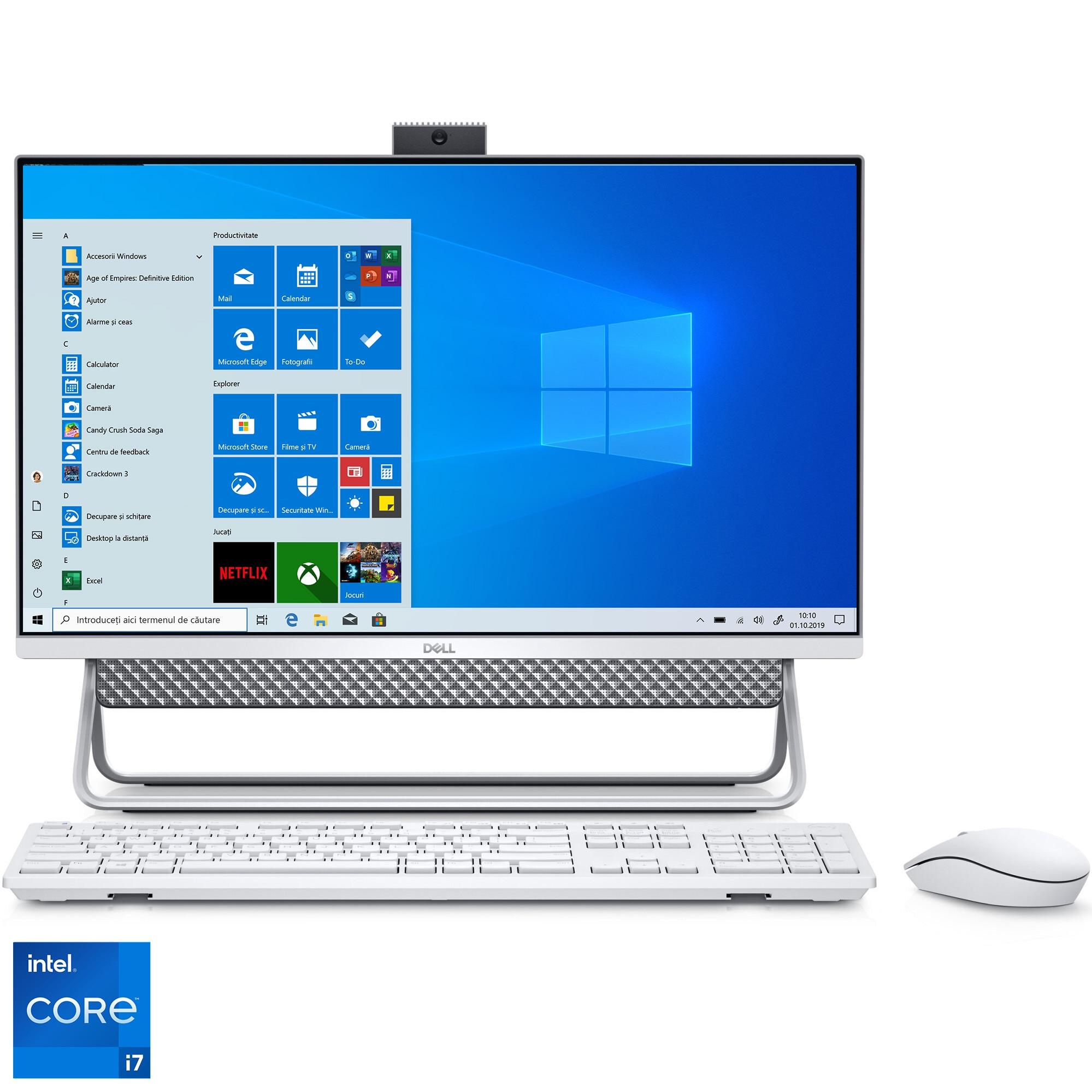 """Fotografie Sistem All-In-One Dell Inspiron 7700 cu procesor Intel® Core™ i7-1165G7 pana la 4.70 GHz, Tiger Lake, 27"""", Full HD, 16GB DDR4, 1TB HDD + 512GB SSD, NVIDIA GeForce MX330 2GB GDDR5, Windows 10 Pro"""