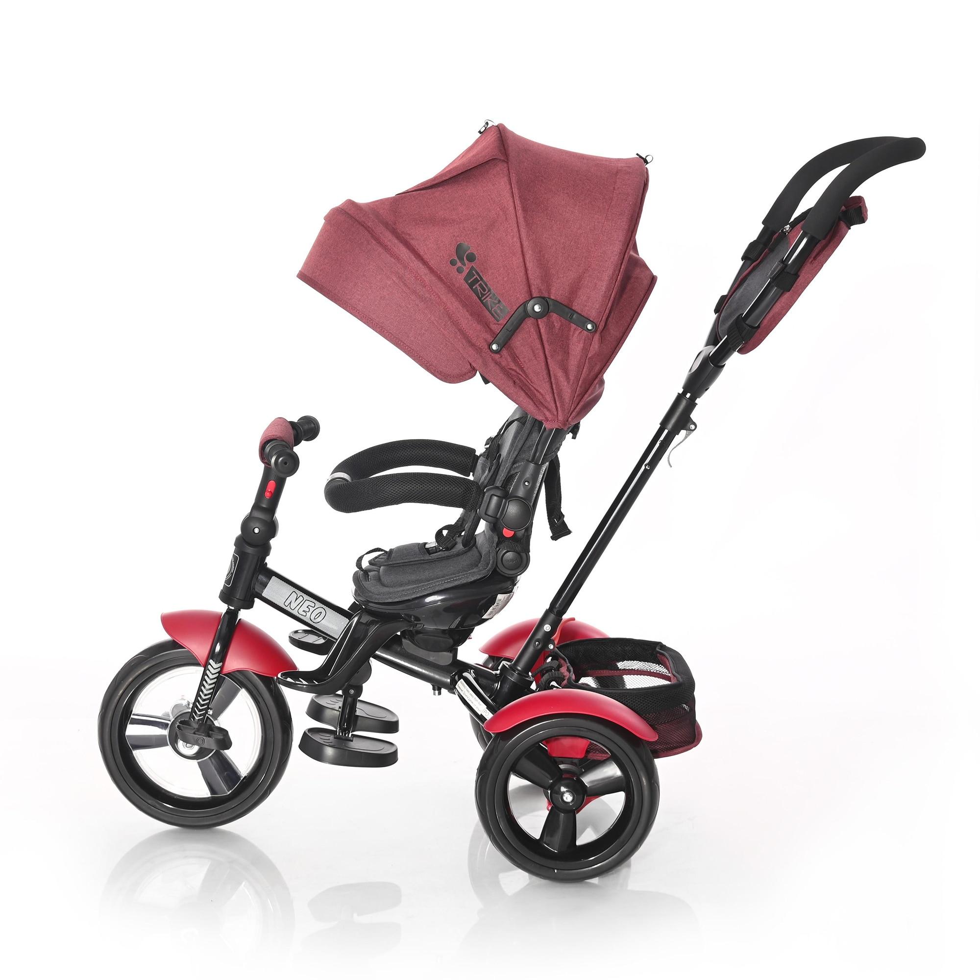 Fotografie Tricicleta 4 in 1 Lorelli - Neo, Red & Black Luxe