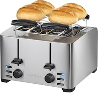 ProfiCook PC-TA 1073 kenyérpirító, 1260-1500W, 4 szeletes, Inox