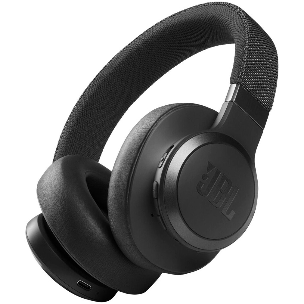Fotografie Casti audio over-ear JBL Live 660NC, Noise Cancelling, Bluetooth, Asistent Vocal, Negru