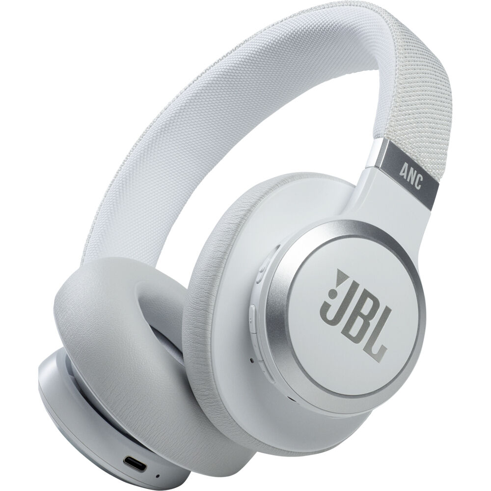 Fotografie Casti audio over-ear JBL Live 660NC, Noise Cancelling, Bluetooth, Asistent Vocal, Alb
