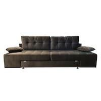 Canapea extensibila Rafael 160, Iza, Relaxa, lada, noptiere, perne, culoare cafeniu, plus, 250x105x85