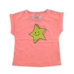 IDEXE kislány csillagmintás barackvirág színű póló - 24 hó, 92