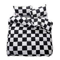 Ágynemű, 100% pamut, sakktábla, 160x200 cm
