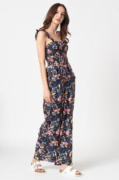 ESPRIT Bodywear, Selina mintás strandoverall, Sötétkék/Rózsaszín/Fehér