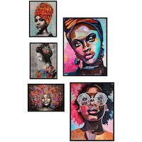 Комплект от 5 декоративни картини Heinner Home, African