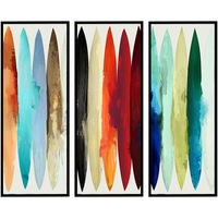 Комплект от 3 декоративни картини Heinner Home, Abstract Color
