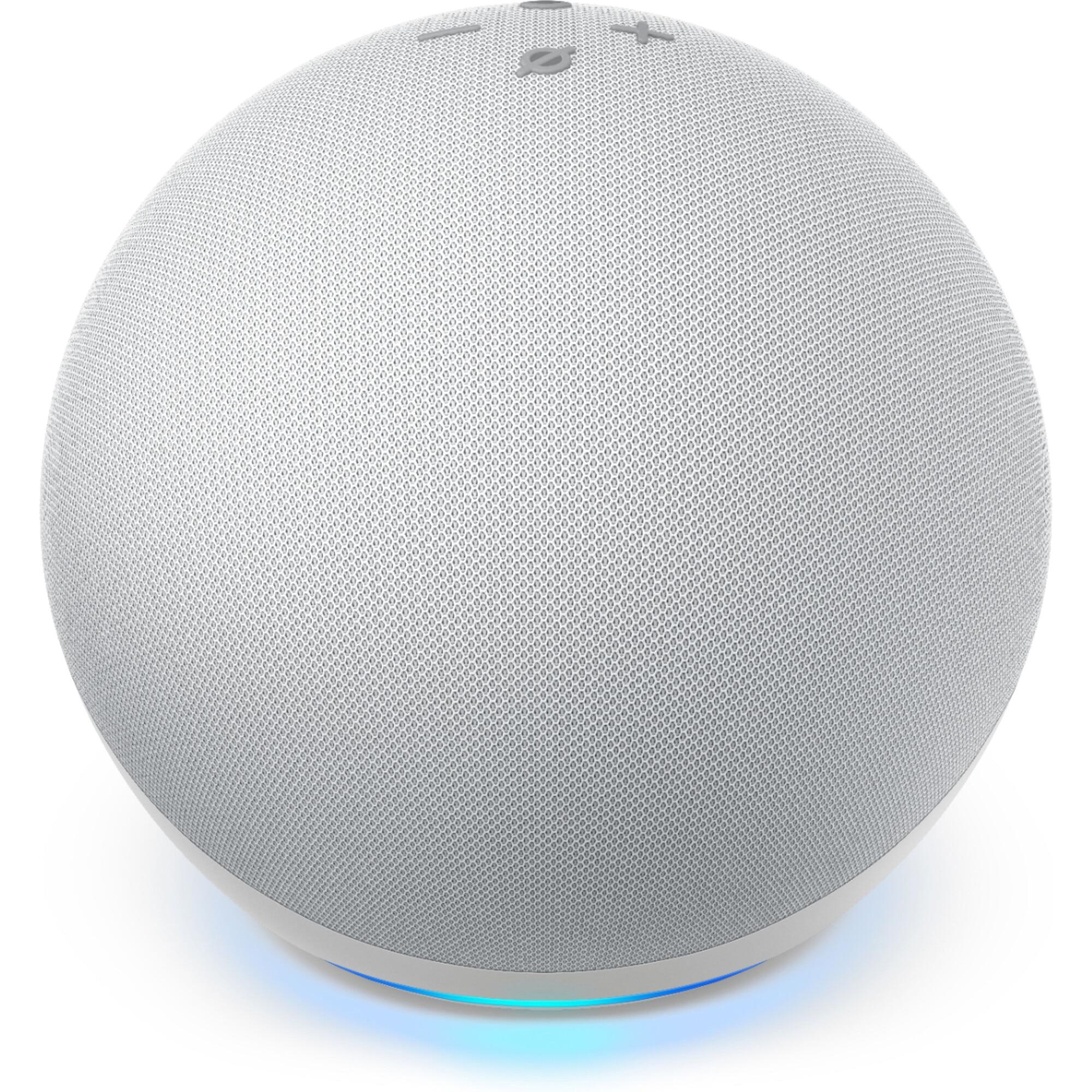 Fotografie Boxa inteligenta Amazon Echo 4, Control Voce Alexa, Wi-Fi, Bluetooth, Dolby, Alb