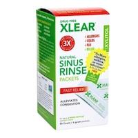 Orröblítésre alkalmas sóoldat, 100%-ban természetes összetevőket tartalmaz, a csomag 50 tasak x 6 gr, NetiXlear-t tartalmaz