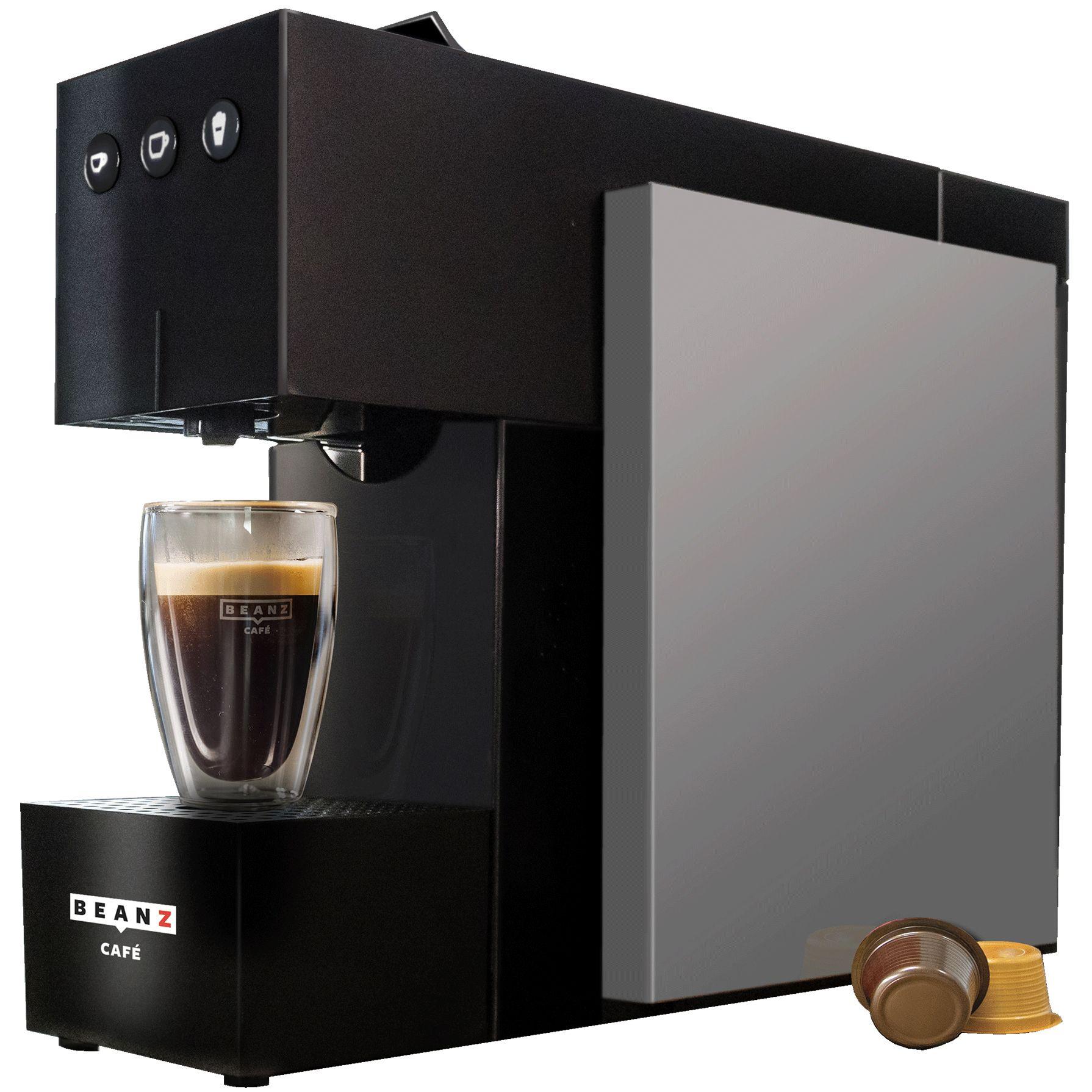 Fotografie Espressor cu capsule BeanZ Café Square 304412, 1l, 19 bari, compatibil Espressto, Mr&Mrs. Mill, Negru/Argintiu