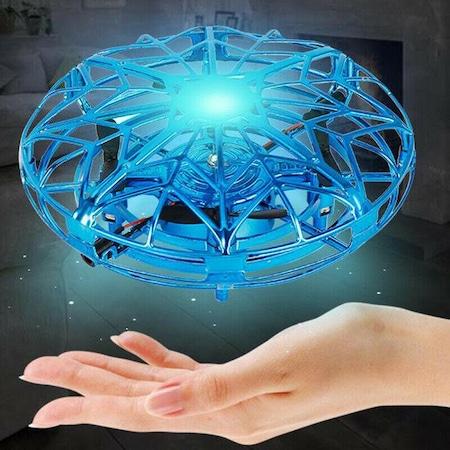 Mini drona UFO cu lumina LED, controlare prin gesturile mainii, rotatie 360grade, Blasko