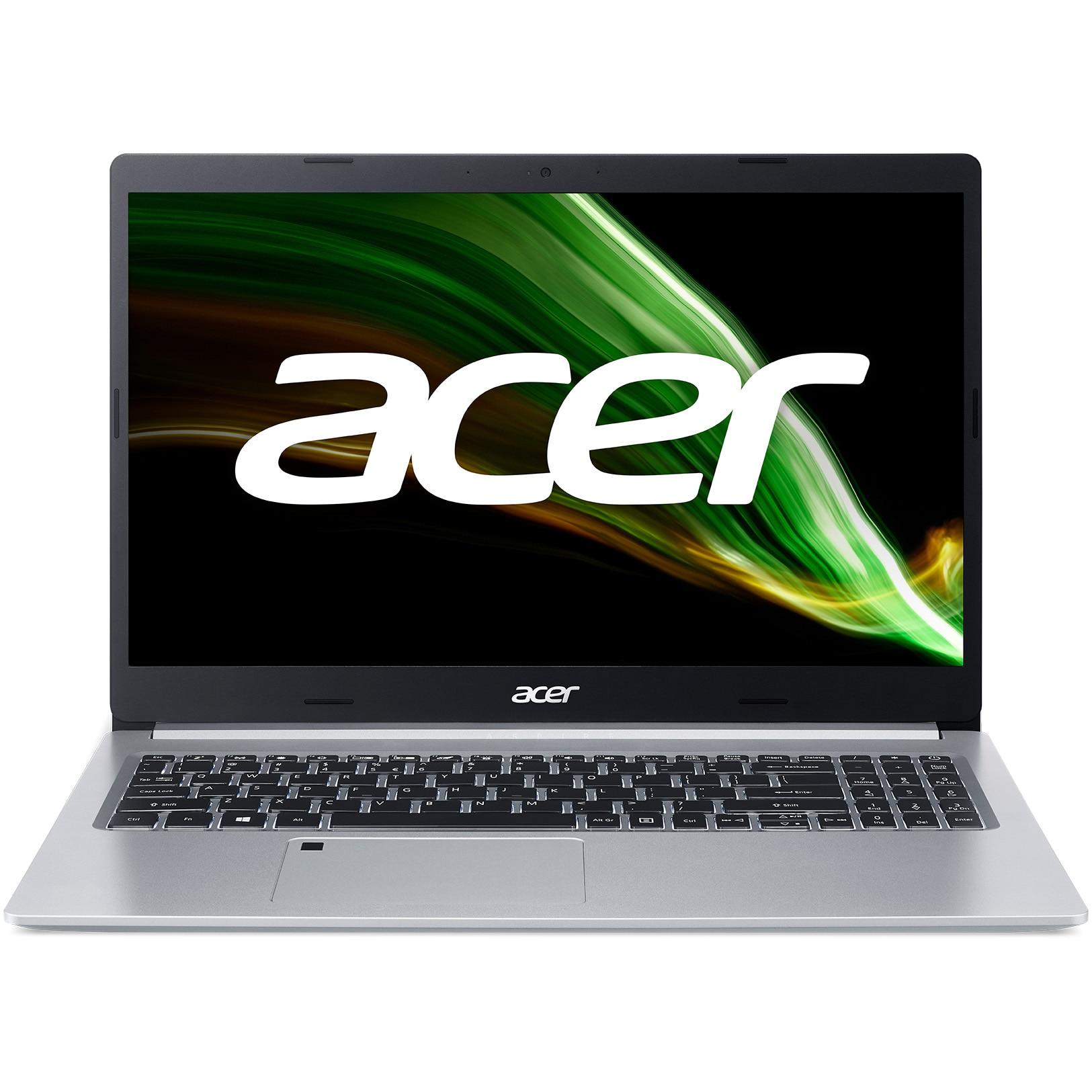 """Fotografie Laptop Acer Aspire 5 A515-45 cu procesor AMD Ryzen™ 5 5500U, 15.6"""", Full HD, 8GB, 1TB HDD + 256GB SSD, AMD Radeon Graphics, No OS, Silver"""