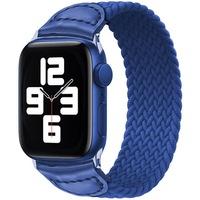 Каишка iUni за Apple Watch 1/2/3/4/5/6, Braided Solo Loop, 38мм, Син