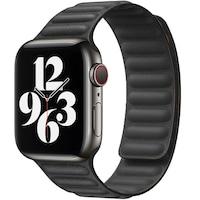 Каишка iUni за Apple Watch 1/2/3/4/5/6, Leather Link, 40мм, Черен