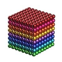 Képességfejlesztő játék, Neocube 216 mágneses golyók, Multicolor, 8 szín, 5mm