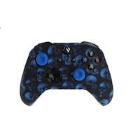 XBOX ONE sorozat - Kontrollerre szilikon -Skull Blue