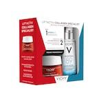 Pachet Crema antirid Vichy Liftactiv Collagen Specialist pentru toate tipurile de ten, 50ml+Gel-booster zilnic Vichy Mineral 89 cu efect de hidratare, fortifiere si reumplere, cu acid hialuronic, 50ml