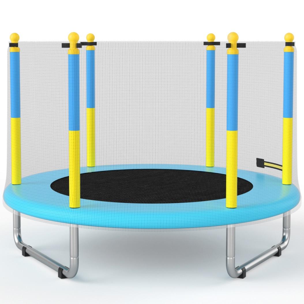 Fotografie Trambulina Mappy, pentru copii, cu plasa de protectie exterioara, 150 cm, Albastru