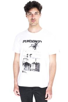 Fundango, Normál fazonú kerek nyakú póló, Fehér