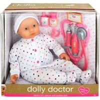 Dolls World Orvosi játékszett alvós szemű babával